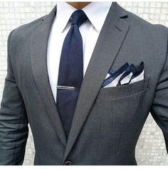 3545651a Hugo Boss Homme, Suit Fashion, Mens Fashion Blog, Fashion Outfits, Grey Suit