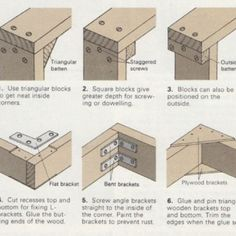 L-joints: Six Ways to Make Corners