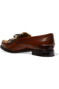 Church's - Rachel Studded Polished Leather Loafers - Tan - IT40.5