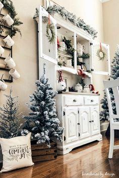 Merry Christmas, Cottage Christmas, Farmhouse Christmas Decor, Green Christmas, Country Christmas, Christmas Home, Handmade Christmas, Christmas Ideas, Christmas Kitchen
