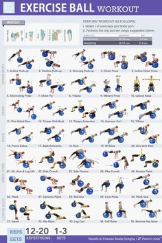 Those big bouncy balls are a must have for both at home workouts and exercises at the gym. Study has shown that workouts performed on the ball are 30% more effective than floor exercises. Here is a list of 35 exercise ball workouts to work your whole body.