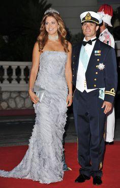 Prinz Carl-Philip von Schweden und Prinzessin Madeleine von Schweden bei einem Dinner nach der kirchlichen Trauung von Prinz Albert II von Monaco und Prinzessin Charlene.