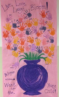 Week of the Young Child 2 April Preschool, Preschool Garden, Preschool Crafts, Kids Crafts, Preschool Rules, Art Crafts, Preschool Ideas, Craft Ideas, Toddler Art