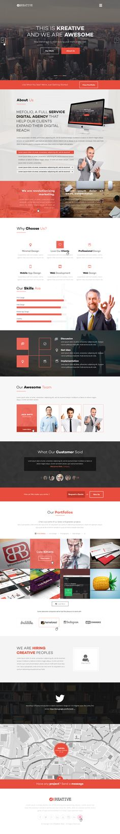 Krefolio - One Page Responsive Bootstrap Website Template (#PSD, #HTML5, #JS, #CSS3)