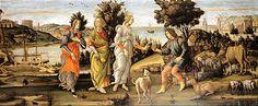 Urteil des Paris – Botticelli 1485 - 1488 Temprta Leinwand