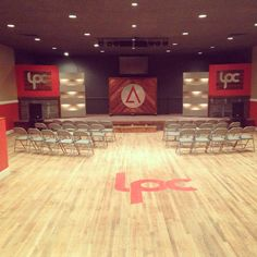 New stage design at LifePoint Church in Cartersville. #LPCelevate