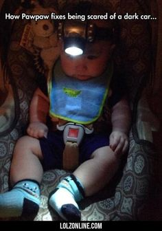 How Pawpaw Fixed Being Scared Of A Dark Car..#funny #lol #lolzonline