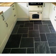Crown Tiles | Chima Black Slate Combination Floor Tiles - Crown Tiles