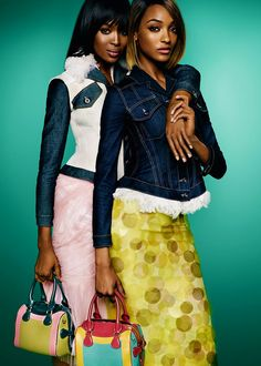☆ Naomi Campbell & Jourdan Dunn | Photography by Mario Testino | For Burberry Campaign | Spring 2015 ☆ #Naomi_Campbell #Jourdan_Dunn #Mario_Testino #Burberry #2015