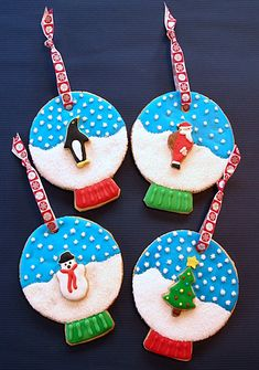 Snow Globe Cookie Ornaments Tutorial  http://baking911.com/cookies/crafty-baker/snow-globe-cookie-ornaments