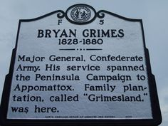 August 14, 1880: while returning home from a political convention in Beaufort County, Bryan Grimes was murdered by a hired assassin near Bear Creek, about five miles from his home in Pitt County.