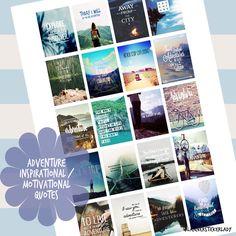 Adventure Motivational or Inspirational Quotes Printable Planner Sticker Erin Condren Sticker by PlannerStickerLady on Etsy