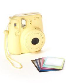 #yellow Instax Mini 8 Camera & Film Set - on sale! http://rstyle.me/n/jevw5r9te