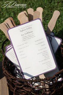 Scubascrapper Brandi: June Wedding  Program Fans