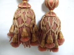 Little Lush and Luxurious This small silk Tassel tieback is