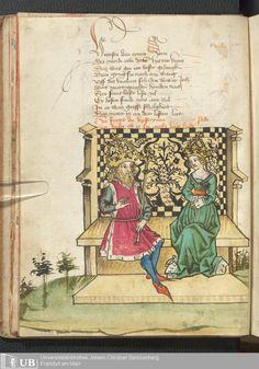 18 [7v] - Ms. germ. qu. 12 - Die sieben weisen Meister - Page - Mittelalterliche Handschriften - Digitale Sammlungen Frankfurt 1471
