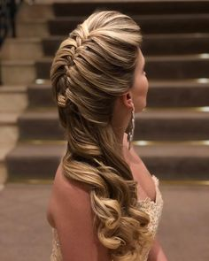 Look at the webpage to learn more about hairstyles diy Dance Hairstyles, Pretty Hairstyles, Braided Hairstyles, Crown Hairstyles, Wedding Hairstyles, Peinado Updo, Bridal Hair Down, Grunge Hair, Bridesmaid Hair