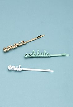 frenchie bobby pin set