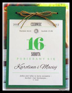 Zaproszenia Ślub-kartka z kalendarza jedyne takie! (2641123111) - Allegro.pl - Więcej niż aukcje. Najlepsze oferty na największej platformie handlowej.
