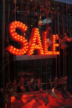 sale in lights, pinned by Ton van der Veer