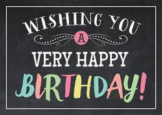 Chalkboard Lights - Birthday Cards from CardsDirect