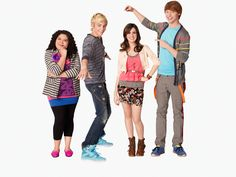 Austin, Ally, Dez et Trish (Austin et Ally) #Austin #Ally #disneychannel