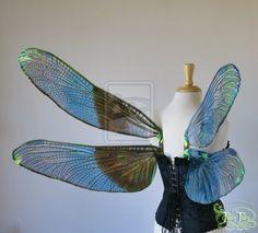 Iridescent Dragonfly Wings for Sebastian, view 2 by FaeryAzarelle.deviantart.com on @deviantART