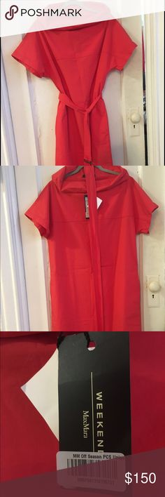 MaxMara dress New, with tags, MaxMara Weekend red dress with pockets and a belt MaxMara Dresses Midi