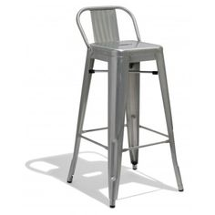 xavier pauchard tolix style metal bar stool with low back rest gunmetal 65cm folding chair bar stool and stools