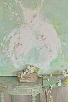 Beautiful work of Laurence Amelie Cottage Shabby Chic, Shabby Chic Mode, Style Shabby Chic, Shabby Chic Bedrooms, Shabby Chic Furniture, Laurence Amelie, Shabby Chic Painting, Painting Inspiration, Illustration