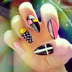 57 Best Stiletto Nails Images On Pinterest Cute Nails Hairdos And