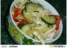 Zeleninový salát naší Kláry recept - TopRecepty.cz Pickles, Cucumber, Cabbage, Meat, Chicken, Vegetables, Food, Meal, Eten
