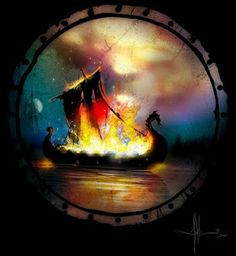Viking Cremation!   Publish with Glogster!
