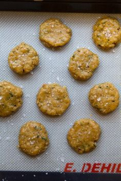 savory rosemary parmesan oatmeal cookies