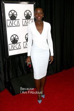 Fabulously Spotted: Lupita Nyong'o Wearing Altuzarra - Los Angeles Film Critics Association Awards - http://www.becauseiamfabulous.com/2014/01/lupita-nyongo-wearing-altuzarra-los-angeles-film-critics-association-awards/