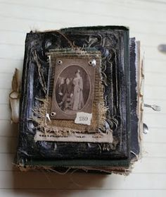 This cover is a replica of a tin-type cover and made from polymer clay if you can believe it.