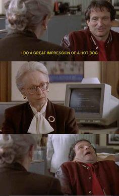 Funny pictures about Don't Show Off In Job Interviews. Oh, and cool pics about Don't Show Off In Job Interviews. Also, Don't Show Off In Job Interviews photos. Robin Williams, Funny Text Memes, Funny Texts, Funny Movies, Good Movies, Comedy Movies, Funny Movie Quotes, Funny Movie Scenes, 90s Movies