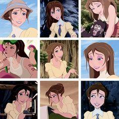 Jane Porter from Tarzan Disney Jane, Tarzan Disney, Disney Films, Disney And Dreamworks, Disney Magic, Disney Pixar, Walt Disney, Deviant Art, Tarzan And Jane