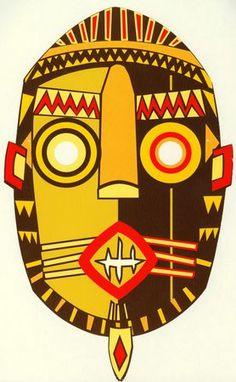 masque_africain_mardi_gras_homme African Drawings, African Artwork, African Art Projects, Afrique Art, Middle School Art Projects, Mask Drawing, Masks Art, African Masks, Tribal Art