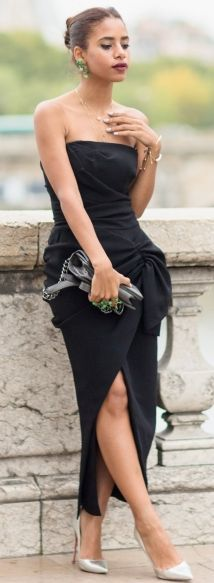 Black Simplicity On Off The Shoulder L B D Fall Cocktail Style Inspo #The Fierce Diaries