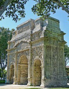 Roman Triumphal Arch in Arausio, nowadays Orange, France