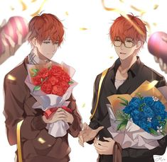 Happy Birthday Saeran and Saeyoung - Mystic Messenger Seven Mystic Messenger, Mystic Messenger Unknown, Illustrations, Illustration Art, Luciel Choi, Zen, Saeran Choi, Ciel Phantomhive, Yandere