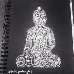 Buddha mandala zentangle