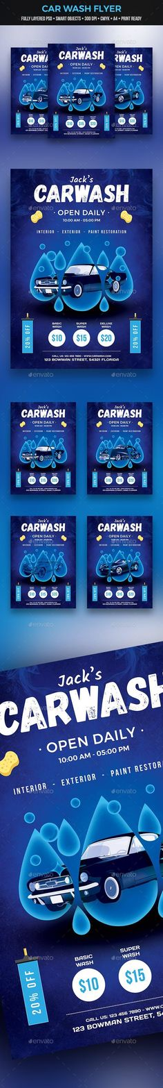 Buy Car Wash Flyer by egcrea on GraphicRiver. Fully layered PSD file Easy customizable and editable with smart objects Size with bleed setting CMYK colors 300 D. Sunset Party, Summer Sunset, Photography Flyer, Modern Photography, Business Flyer Templates, Business Flyers, Music Flyer, Print Design, Graphic Design