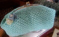 Verde Tiffany con roselline di seta