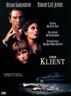 Der Klient  1994 USA      IMDB Rating 6,6 (29.567)  Darsteller: Susan Sarandon, Tommy Lee Jones, Mary-Louise Parker, Anthony LaPaglia, J.T. Walsh,  Genre: Thriller, Mystery, Drama,  FSK: 12