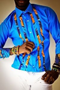 Ankara Style with Blue Strife for Male