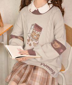 Japanese Outfits, Korean Outfits, Japanese Fashion, Japanese Clothing, Style Kawaii, Looks Kawaii, Kawaii Fashion, Cute Fashion, Fashion Outfits