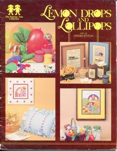 Lemon Drops and Lollipops Cross Stitch Vanessa Ann Collection VAC 10 Hearts Sunflower Popcorn Cherry Fruit by PengyPatterns on Etsy Cross Stitch Books, Cross Stitch Samplers, Counted Cross Stitch Patterns, Cross Stitch Designs, Jungle Pictures, Cross Stitch Material, Girls Pad, Fruit Picture, Lemon Drops