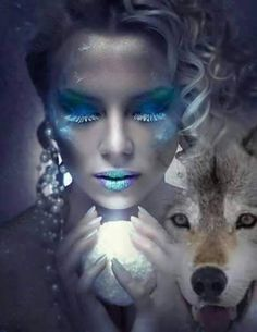 Photo Illustration, Digital Illustration, Wolf Mates, Wolves And Women, Wolf Artwork, Wolf Painting, Wild Wolf, Amaterasu, Beautiful Wolves